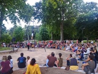 Filles de Cirque au Parc des Cordeliers le 11 juillet 2020
