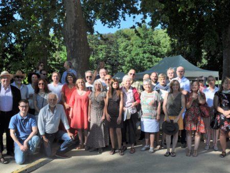Photo du Midi Libre des auteurs et organisateurs de la journée du 18 juillet 2020