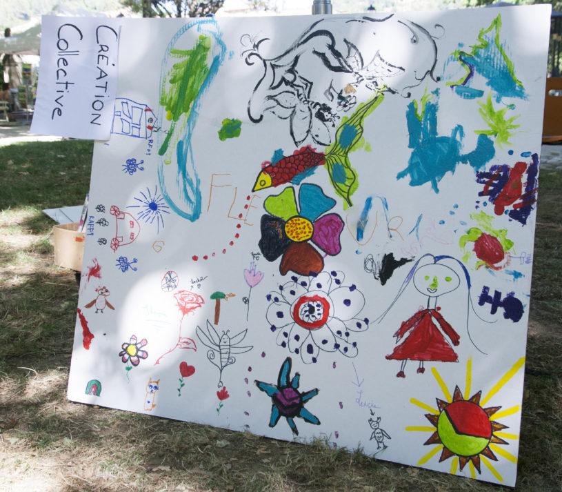 """Le Langage des Papillons et 1001 Mémoires - Peinture Collective - Festival """"Lire à Anduze"""" 2020"""