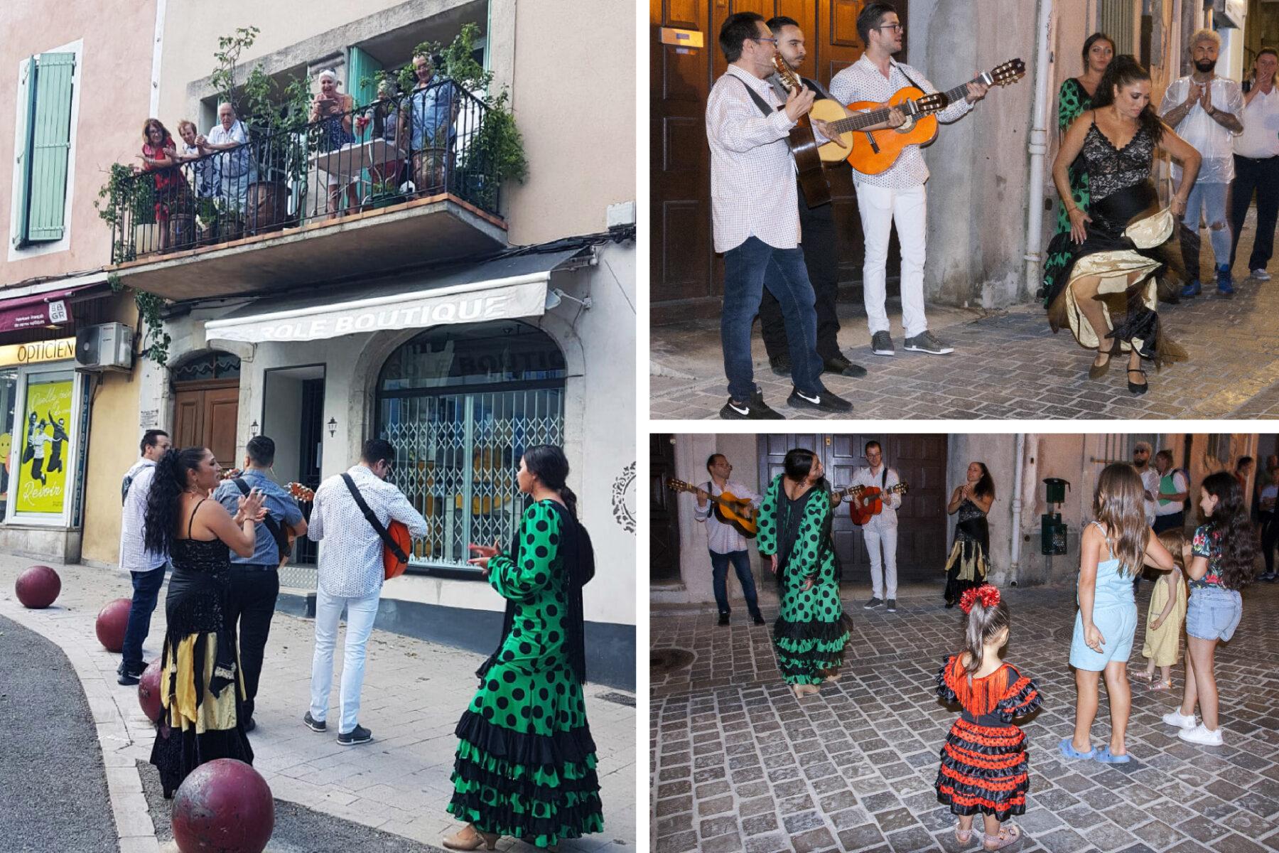 Les Gipsy Catalan et leurs danseuses - Fête de la Musique 2020 à Anduze