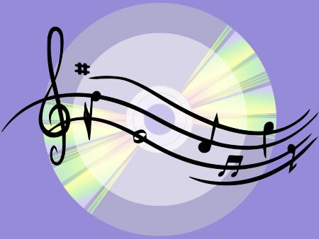 Illustration CD pour médiathèque