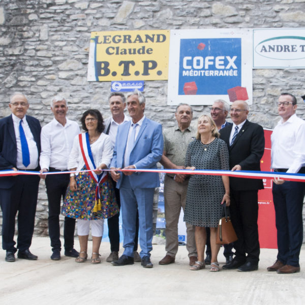 Inauguration des travaux de confortement de la digue