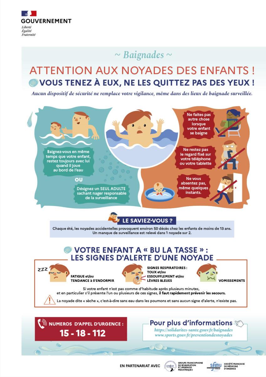Prévention noyade enfant 2020 visuel