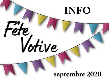 illustration info fête votive 2020