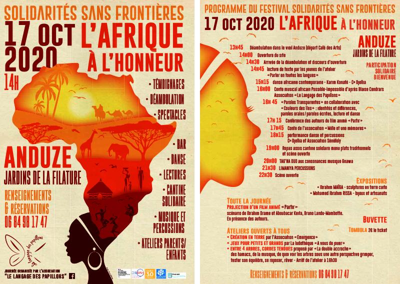 Flyer Festival des Solidarités