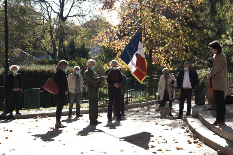 photo de la commémoration du 11 novembre 2020