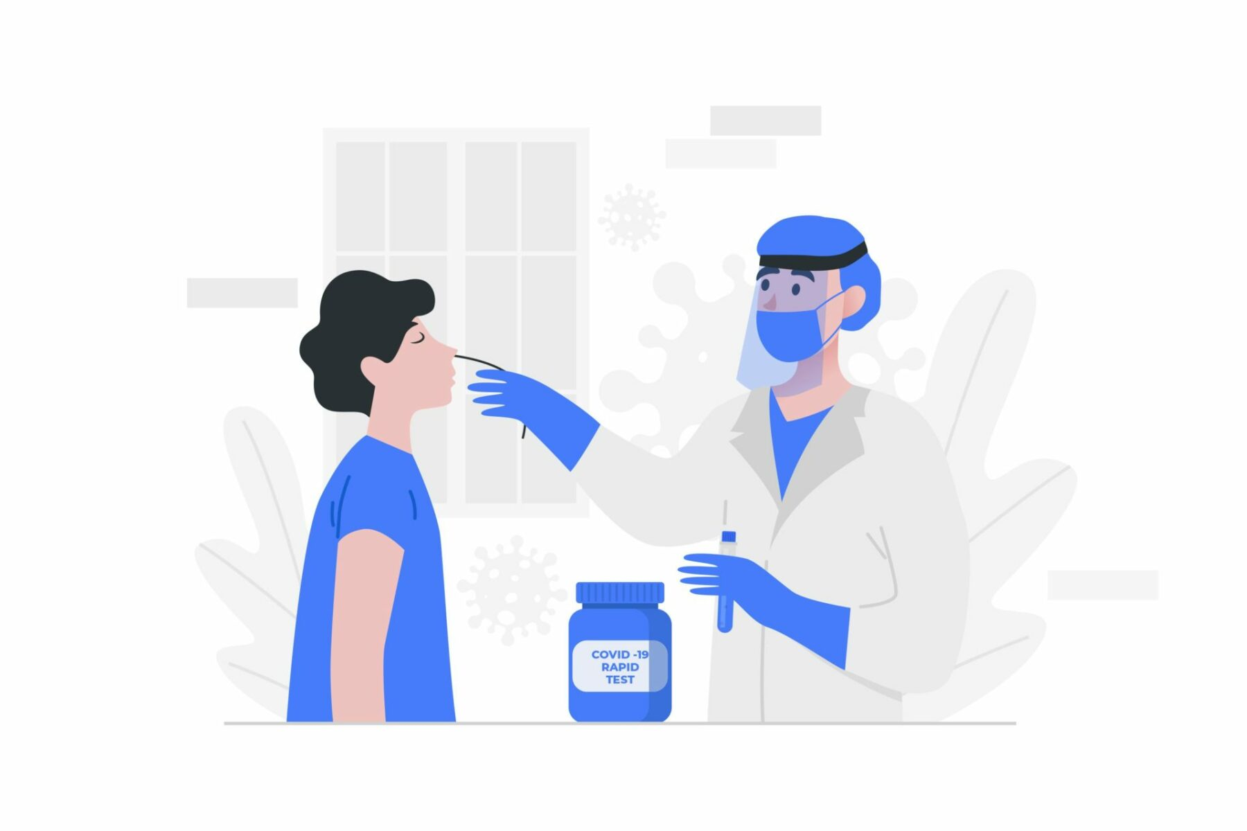 illustration test antigenique covid-19