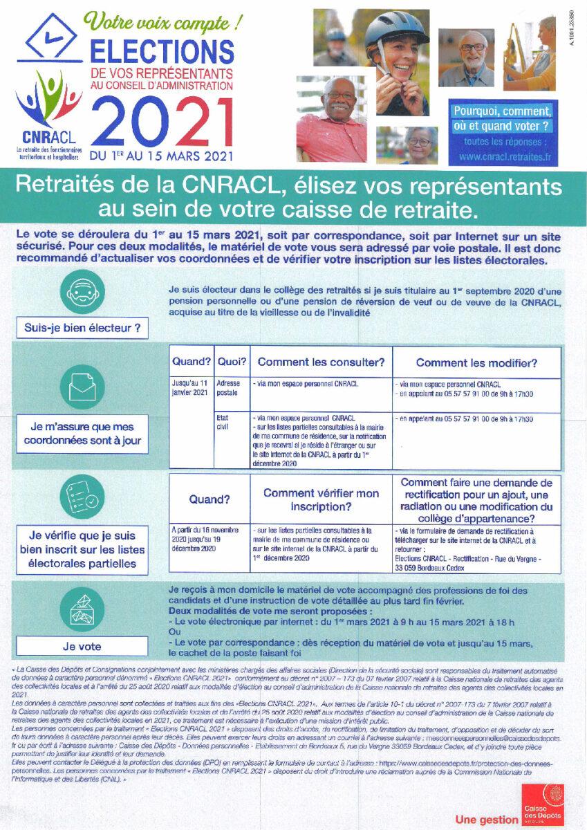 Élection CNRACL 2021