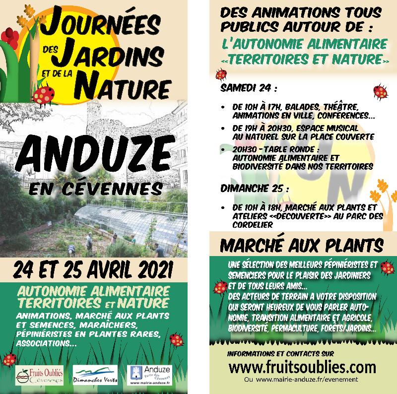 Flyer - Les Journées des Jardins et de la Nature - 24 et 25 avril 2021