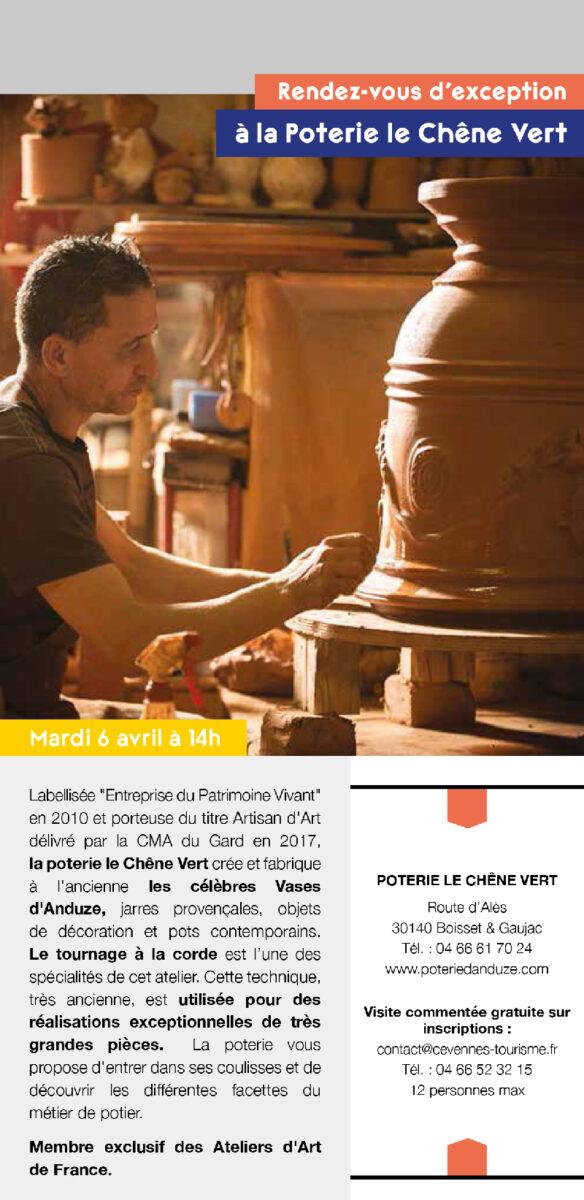 Les Journée Européennes des Métiers d'Art - du 6 au 11 avril - Vase d'Anduze