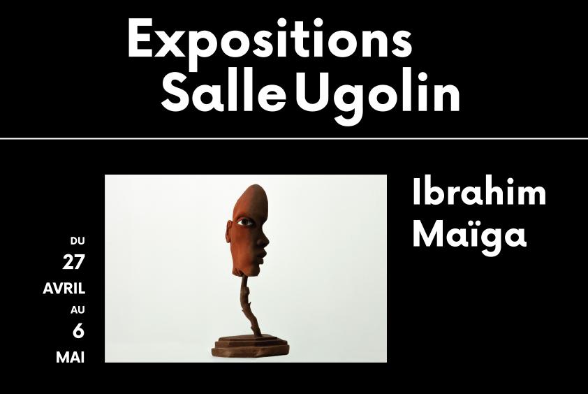 Affiche expositions salle ugolin du 27 avril au 6 mai 2021