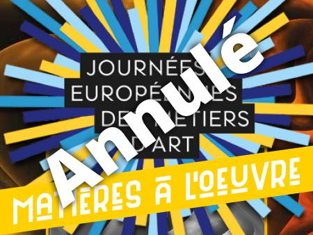 illustration journées européenne des métiers d'art 2021 annulées