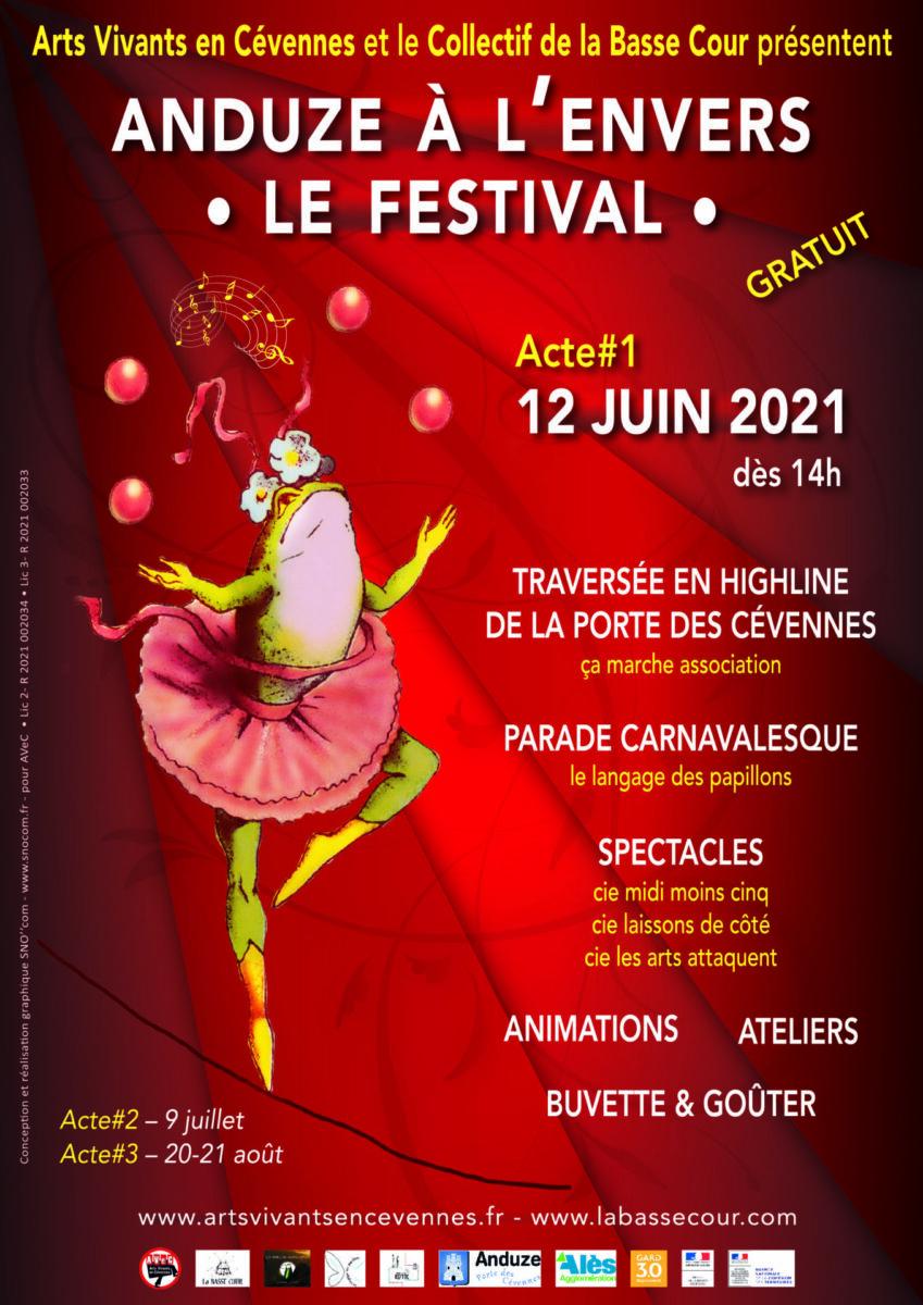 Affiche festival Anduze à l'envers 2021 1