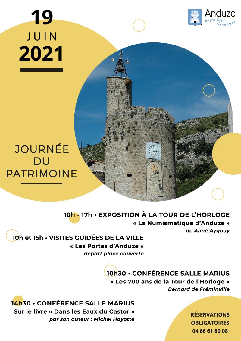 affiche journée du patrimoine 2021
