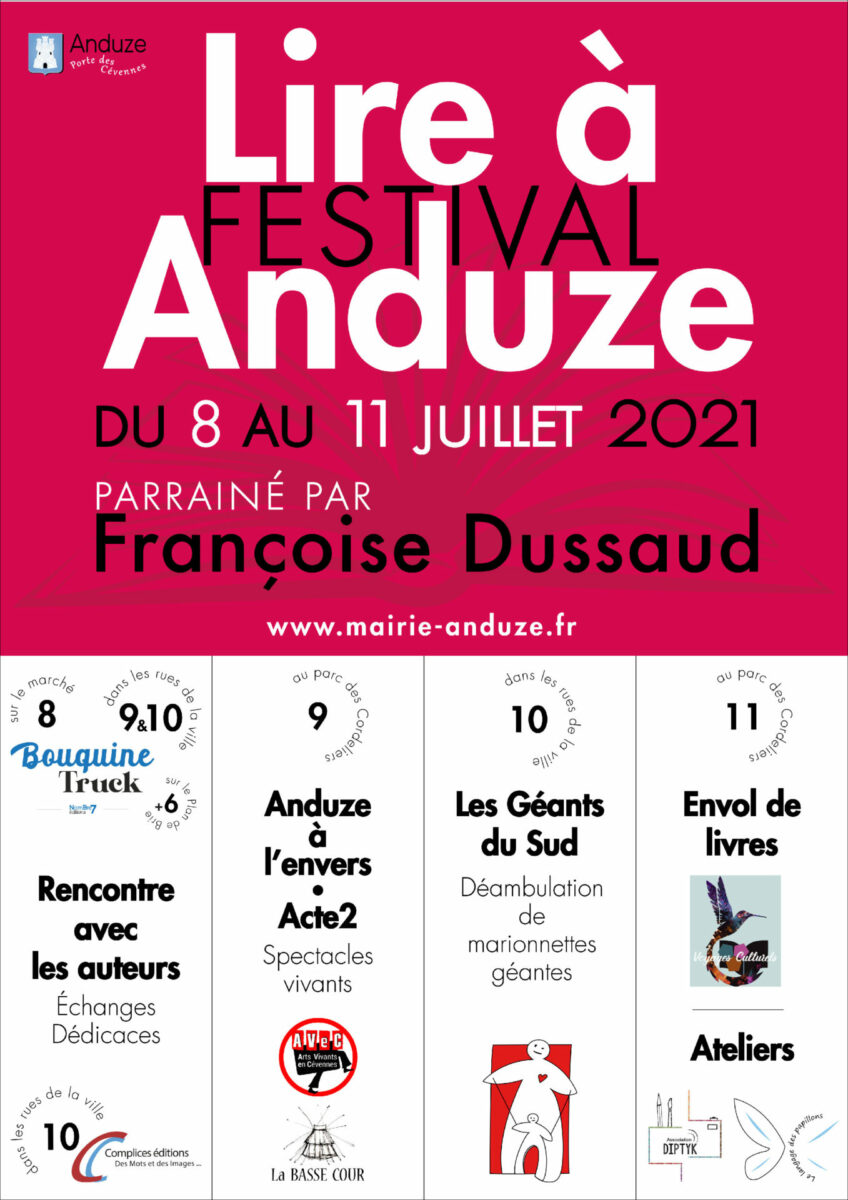 "affiche festival ""lire à Anduze"" 2021"