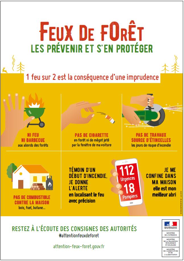 affiche feux de forêt prévention