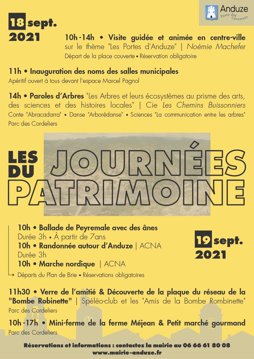 affiche Journées du Patrimoine 2021