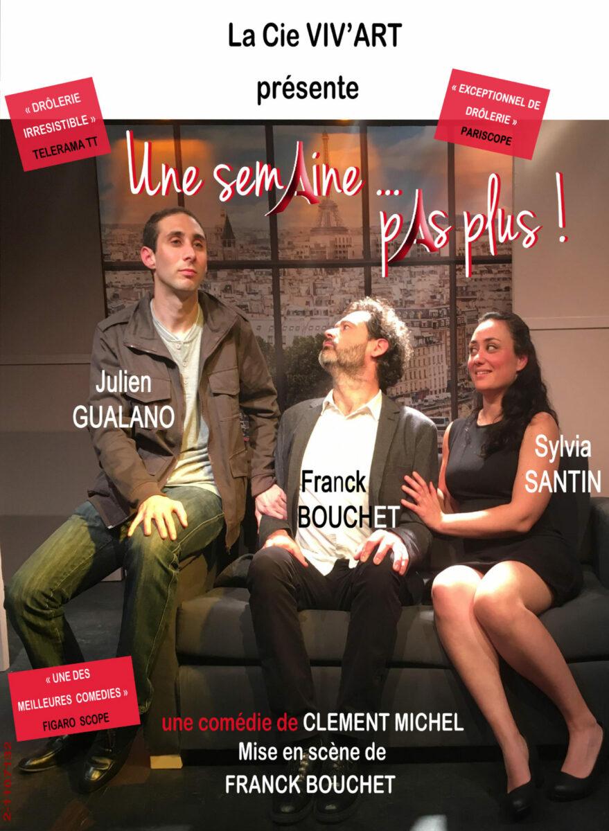 theatre salle Rohan affiche Une semaine...pas plus ! Cie VIV'ART